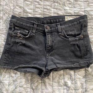 rag & bone Distressed Jean Shorts, faded black